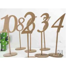 1-10 set of Table Numbers Long stem