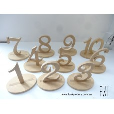 1-10 set Numbers on base lots of fonts