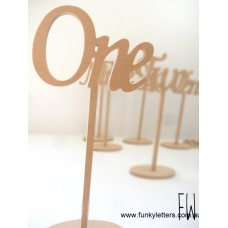 1-10 set Number long stemmed Scripted  table numbers