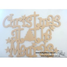 Christmas at the Wooden Signs UNPAINTED