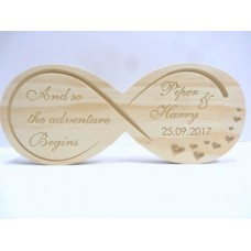 Timber finished Infinity wedding signs