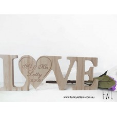Wooden Love Sign personalised
