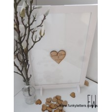 Drop Box guest Book Rectangle WHITE