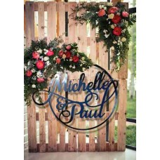 Large 60 cm ACRYLIC Wreath for floral Backdrop
