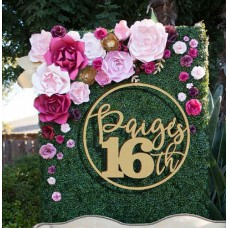 Birthday  Wreath for floral Wall