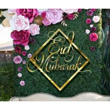 ACRYLIC Eid Mubarak Hoop signs for Backdrop