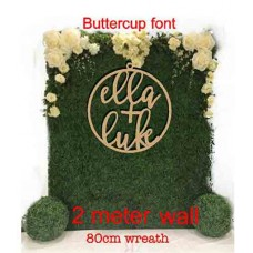 Extra Large Wedding Wreath for floral Backdrop 2 Names