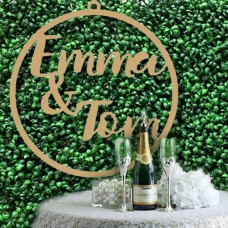 Extra Large Wedding hoops sign for floral Backdrop 2 Names