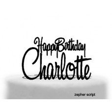 Happy Birthday /Name  2 lines